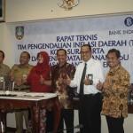 Wakil Walikota Solo, Deputi Operasional BI Surakartta, dan para pejabat di Kota Solo usai penandatanganan Mou: Foto: Koranjuri.com