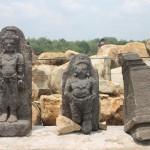 Arca Mahakala dan Nandiswara yang di temukan di situs Watu Kebo. Foto: Koranjuri.com