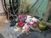 barang barang milik keluarga facrudin yang terbakar oleh api ghaib